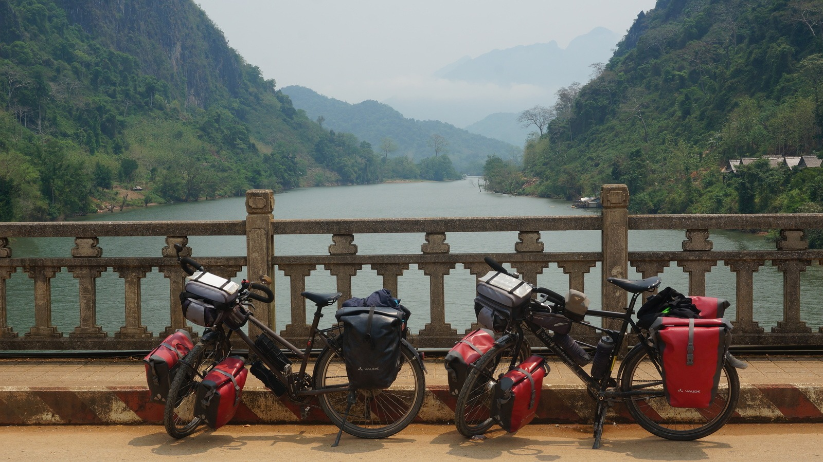 Our bicycles in Laos