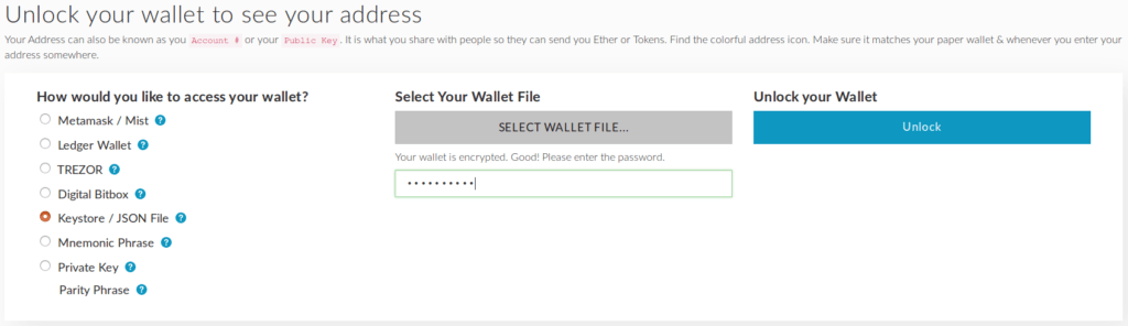 How to view your wallet in MyEtherWallet